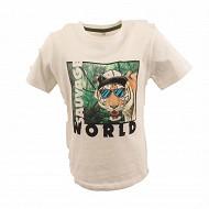 Tee shirt manches courtes garcon ECRU 14 ANS