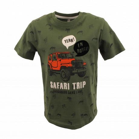Tee shirt manches courtes garcon KAKI 18-0420 TPX 14 ANS