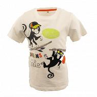 Tee shirt manches courtes garcon ECRU 11-0601 TPX 14 ANS
