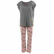Pyjama long manches courtes femme VERT T50\52