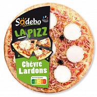Sodébo La Pizz chèvre affiné et lardons 470g