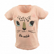 Tee shirt manches courtes fille ROSE 13-1310 TPX 12 ANS