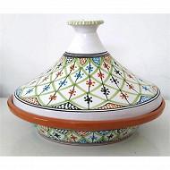 Tajine de cuisson 30 cm en terre cuite decor saharia