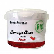 Fromage blanc bio sur lit de fraise 500g