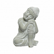 Bouddha assis béton dim 20x17xh30cm