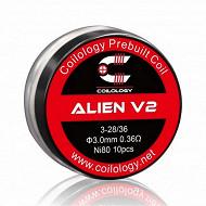 Mèche prefab alien v2 ni80 3-28/36 0,36 coilology