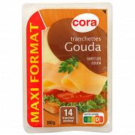 Cora tranchettes gouda 14 tranches maxi format 350g