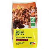 Nature bio muesli croustillant tout chocolat 500g