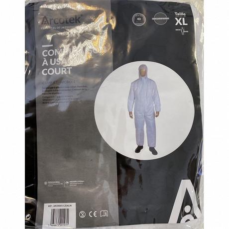 Combinaison polypropylène jetable pour poussière et saleté taille xl