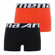 Lot 2 boxers Duo EcoPack Athena 2000 NOIR / ORANGE 10 ANS