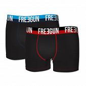 Lot de 2 boxers Freegun NOIR/NOIR S