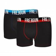 Lot de 2 boxers Freegun NOIR/NOIR XL