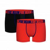 Lot de 2 boxers Freegun NOIR/ROUGE S