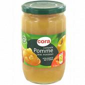 Cora compote de pomme morceaux allégée en sucre 710g