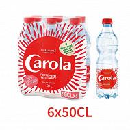 Carola rouge eau pétillante bouteille 6 x 50cl