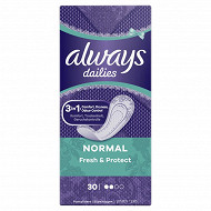 Always proteges-slips normal x30