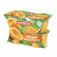 Andros dessert d'abricots avec morceaux 4x100g