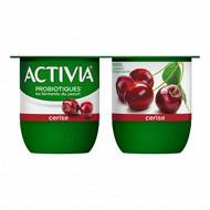 Activia bifidus fruits cerises 4x125g