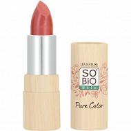 So bio rouge a levres pure color 10 corail lumiere satine
