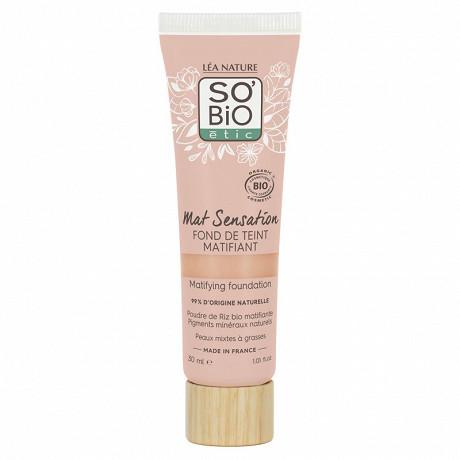 So bio fond de teint matifiant mat sensation - 15 vanille rose