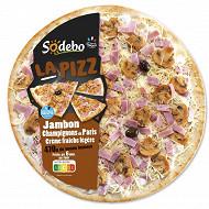 Sodebo Pizza La pizz jambon champignons crème fraîche 470g