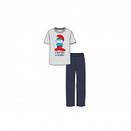 Pyjama manches courtes schtroumpf GRIS CHINE SCHTROUMPF XXL