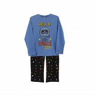 Pyjama manches longues garçon ROUGE/ GRIS 8 ANS