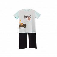 Pyjama long manches courtes jersey garçon TURQUOISE/ BLEU 8 ANS
