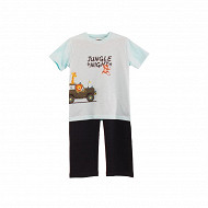 Pyjama long manches courtes jersey garçon TURQUOISE/ BLEU 6 ANS