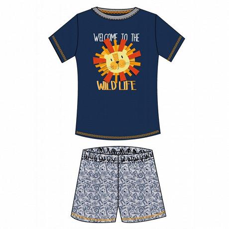 Pyjashort garçon MARINE/GRIS CHINE 10ANS