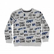 Sweat shirt garcon GREY MELANGE 12 ANS