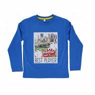 Tee shirt manches longues garcon BLUE 18-4045 TPX 12 ANS