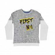 Tee shirt manches longues garcon GREY MELANGE 10 ANS