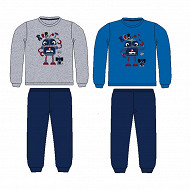 Pyjama long manches longues velours MARINE 3 ANS