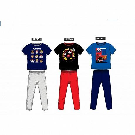 Pyjama long manches courtes licences garçon BLEU/BLEU CARS 10A