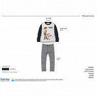 PYJAMA LONG MANCHES LONGUES GARCON GRIS CHINE TOYS STORY 5 ANS