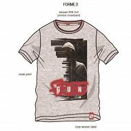 Tee shirt manches courtes freegun GRIS FREEGUN 16ANS