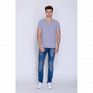 Tee shirt manches courtes homme GRIS CHINE XXL