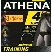 Slip trainning lot de 3 + 1 offert Athena 2051 NOIR/NOIR/N/N T4