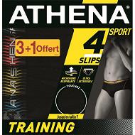 Slip trainning lot de 3 + 1 offert Athena 2051 NOIR/NOIR/N/N T6