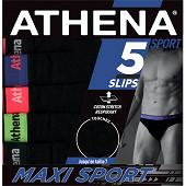 Lot de 5 slips Athéna 2101 NOI/NOI/NOI/NOI T3