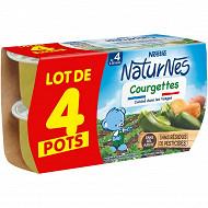 Nestle naturnes petits pots bébe courgette dés 4/6 mois- 4x130g