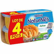 Nestle naturnes petits pots bébé potiron dés 4/6mois 4x130g