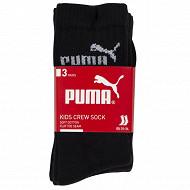 Lot de 3 paires de mi-chaussettes Puma NOIR 200 35\38