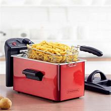 Kitchencook friteuse semi pro inox rouge 3L KFRY_RED