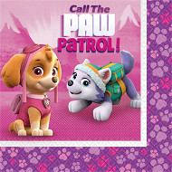 Serviettes x20 paw patrol pink 33x33cm