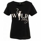 Tee shirt manches courtes femme BLACK CAT T50\52