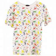 Tee shirt manches courtes garçon FOND BLANC 12 ANS