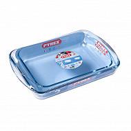 Lot de 2 plats à lasagnes rectangulaire 35x23cm + 40x27cm