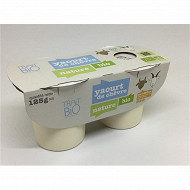 Yaourt bio ferme nature au lait de chèvre biologique pasteurisé 2x125g